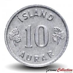 ISLANDE - PIECE de 10 Aurar - 1974 Km#10a