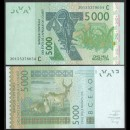 BCEAO - Burkina Faso - Billet de 5000 Francs - Antiloppe Cobe de Buffon - 2020