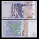 BCEAO - Burkina Faso - Billet de 10000 Francs - Oiseau Touraco à gros bec - 2020
