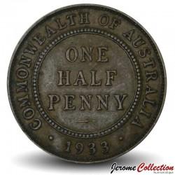 AUSTRALIE - PIECE de 1/2 Penny - George V - 1933 Km#22