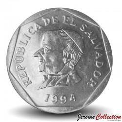 SALVADOR - PIECE de 25 Centavos - José Matías Delgado y León - 1994 Km#157b