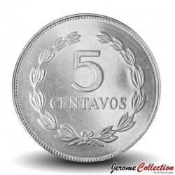 SALVADOR - PIECE de 5 Centavos - José Francisco Morazán Quezada - 1999 Km#154