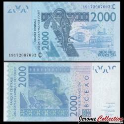 BCEAO - Burkina Faso - Billet de 2000 Francs - Mérou - 2019 P316cs