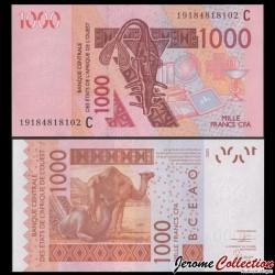 BCEAO - Burkina Faso - Billet de 1000 Francs - Chameaux - 2019 P315cs