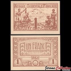 AFRIQUE OCCIDENTALE FRANÇAISE / AOF - Billet de 1 Franc - 1944 P34b2