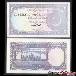PAKISTAN - Billet de 2 Roupies - Mosquée Badshahi - 1986 P37a5