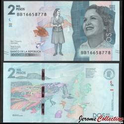 COLOMBIE - Billet de 2000 Pesos - Débora Arango Pérez - 24.07.2018 P458d