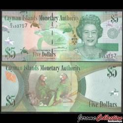 CAIMANS (ILES) - Billet de 1 DOLLAR - Elizabeth II, Poissons Tropicaux - 2010