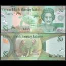 CAIMANS (ILES) - Billet de 5 DOLLARS - Elizabeth II, tortues  Perroquets - 2014