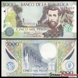 COLOMBIE - Billet de 5000 Pesos - 2013