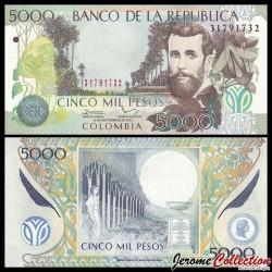 COLOMBIE - Billet de 5000 Pesos - José Asunción Silva - 2013