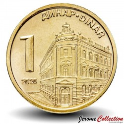 SERBIE - PIECE de 1 Dinar - Banque Nationale de Serbie - 2020 Km#54