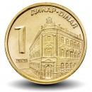 SERBIE - PIECE de 1 Dinar - Banque Nationale de Serbie - 2020