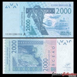 BCEAO - COTE D'IVOIRE - Billet de 2000 Francs - 2003 / 2011