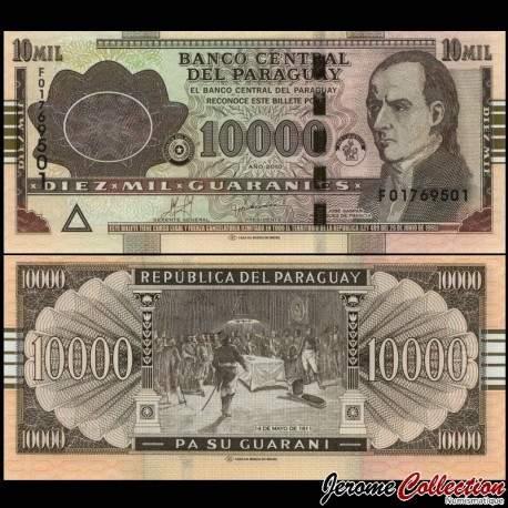 PARAGUAY - Billet de 10000 Guaranies - José Gaspar Rodríguez de Francia - 2015