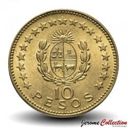 URUGUAY - PIECE de 10 Pesos - Général José Gervasio Artigas - 1965 Km#48