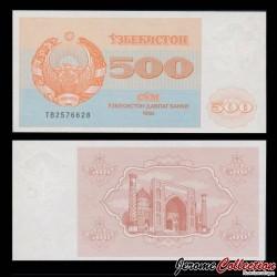 OUZBEKISTAN - Billet de 500 Som - Médersa - 1992 P69b