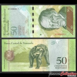VENEZUELA - Billet de 50 Bolivares - 27.12.2012 P92g