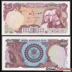 IRAN - Bank Markazi - Billet de 100 Rials - 50e anniversaire de la dynastie Pahlavi - 1976 P108a