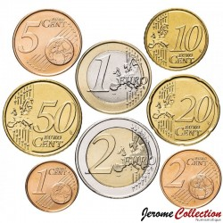 CHYPRE - SET / LOT de 8 PIECES de 1 2 5 10 20 50 Cents - 1 2 Euro - 2020