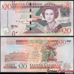CARAIBE ORIENTALE - Billet de 20 DOLLARS - Noix de Muscade - 2015 P53b
