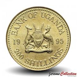 OUGANDA - PIECE de 200 Shillings - Perche du Nil - 1995