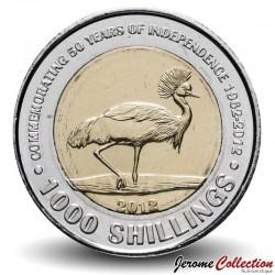 OUGANDA - PIECE de 1000 Shillings - 50e ans de l'indépendance - 1995 Km#278
