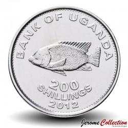 OUGANDA - PIECE de 200 Shillings - Poisson Tilapia - 2012 Km#68a