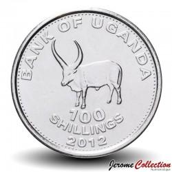 OUGANDA - PIECE de 100 Shillings - boeuf africain - 2012 Km#67a