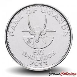 OUGANDA - PIECE de 50 Shillings - Une antilope - 2012 Km#66