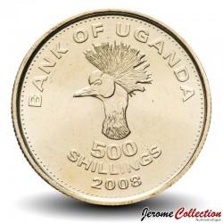 OUGANDA - PIECE de 500 Shillings - Grue couronnée d'Afrique de l'Est - 2009 Km#69