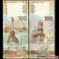 RUSSIE - Billet de 100 Roubles - Réunification de la Crimée avec la Russie - kc - 2015 P275c