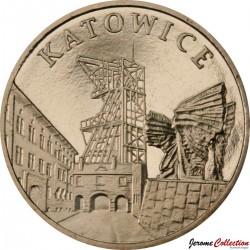 POLOGNE - PIECE de 2 ZLOTE - Villes de Pologne: Katowice - 2010 Y#761