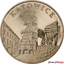 POLOGNE - PIECE de 2 ZLOTE - Villes de Pologne: Katowice - 2010