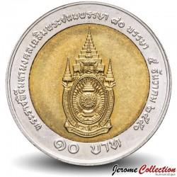 THAILANDE - PIECE de 10 Baht - 80° anniversaire du roi - 2007