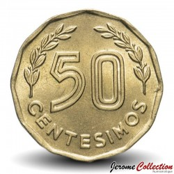 URUGUAY - PIECE de 50 Centésimos - Balance - 1981