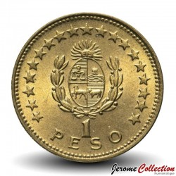 URUGUAY - PIECE de 1 Pesos - Général José Gervasio Artigas - 1965 Km#46