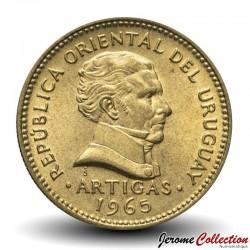 URUGUAY - PIECE de 1 Pesos - Général José Gervasio Artigas - 1965