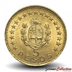 URUGUAY - PIECE de 5 Pesos - Général José Gervasio Artigas - 1965 Km#47