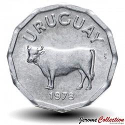 URUGUAY - PIECE de 5 Centésimos - Taureau - 1978 Km#44