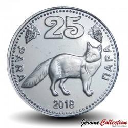 GAGAOUZIE - PIECE de 25 Para - Renard - 2018 25P