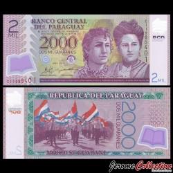 PARAGUAY - Billet de 2000 - Adela and Celsa Speratti - Polymer - 2011 P228c