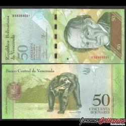 VENEZUELA - Billet de 50 Bolivares - 29.10.2013 P92h