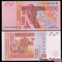 BCEAO - COTE D'IVOIRE - Billet de 1000 Francs - Dromadaire - 2013 P115Ak