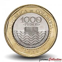 COLOMBIE - PIECE de 1000 PESOS - Tortue de mer - Bimetal - 2016
