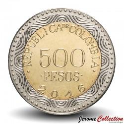COLOMBIE - PIECE de 500 PESOS - Grenouille de verre - 2016