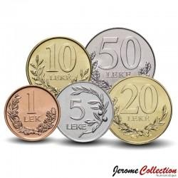 ALBANIE - SET / LOT de 5 PIECES - 5 10 20 50 LEKE - 2000 / 2016