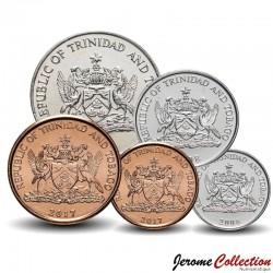 TRINITÉ-ET-TOBAGO - SET / LOT de 5 PIECES de 1 5 10 25 50 Cents - Oiseaux - 2003 2014