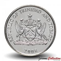 TRINITÉ-ET-TOBAGO - PIECES de 25 Cents - Fleur de chaconia - 2008