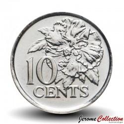 TRINITÉ-ET-TOBAGO - PIECES de 10 Cents - Hibiscus - 2014 Km#31